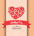 valentines day greeting poster vector image vector image