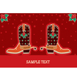 cowboy red christmas vector image vector image