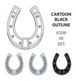 a metal horseshoe for horses shoes for horses to vector image