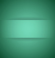 Abstract green paper with shadow background vector image