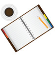 organizer and coffee vector image