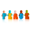 Peace Paper Cut Title with Men - People Icons vector image
