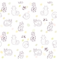 seamless pattern cats vector image