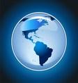 Shiny Globe on Blue Background vector image