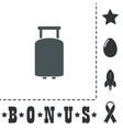travel suitcase flat icon vector image