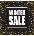 Winter sale design template vector image