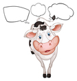 A cow with empty callouts vector image vector image