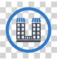 Company Building Flat Rounded Icon vector image