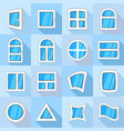 window forms icons set flat style vector image