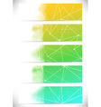 Connection structure cards collection lines vector image