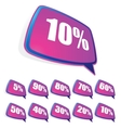 Discount labels set EPS8 vector image