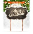 Christmas vintage greeting card EPS 10 vector image