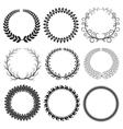 Black Laurel Wreaths Set vector image vector image