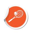 tennis ORANGE LABEL vector image vector image