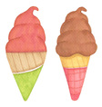 Ice cream hand-drawn vector image