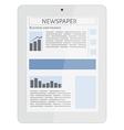 Mobile news tablet vector image
