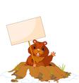 cartoon groundhog vector image vector image