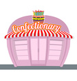 Confectionary shop Sweets shop Signage celebratory vector image