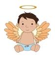 Baby angel cartoon icon vector image
