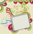 banner doodle vector image