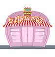 Confectionary shop Sweets shop Signage celebratory vector image