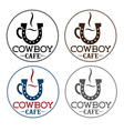 cowboy cafe concept vector image