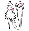 Elegance clothes vector image