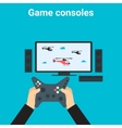 Home gaming vector image