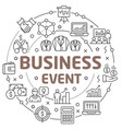 line flat circle business event vector image