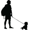 man and dog vector image