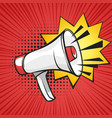 pop art of loudspeaker vector image