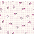 seamless pattern with the gentle flowers vector image