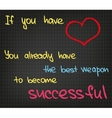 Success words vector image