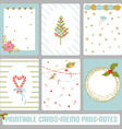 Winter card set vector image
