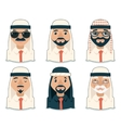 Arab Avatars Businessman Cartoon Design Character vector image vector image