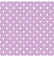 Tile pattern with white polka dots on violet vector image vector image