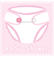 Baby shower card with nappy vector image vector image