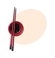 bamboo asian chinese japanese chopsticks lying vector image