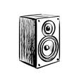 Doodle speaker icon vector image