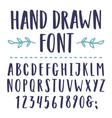 hand drawn font vector image