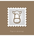 Horse stamp Animal head vector image