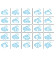 ICONS CLOUD COMPUTING BLUE vector image