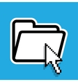 Isolated file folder icon with a cursor vector image