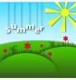 Landscape of paper Caricature Summer vector image