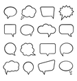 Speech bubbles for infographics vector image