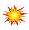 Starburst icon cartoon style vector image