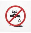Water leak vector image