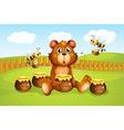 Cartoon Honeybee Bear vector image