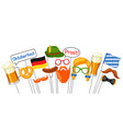 set of oktoberfest photo booth props accessories vector image
