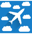 Airplane in Sky vector image
